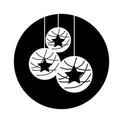 christmas ball isolated icon vector illustration design