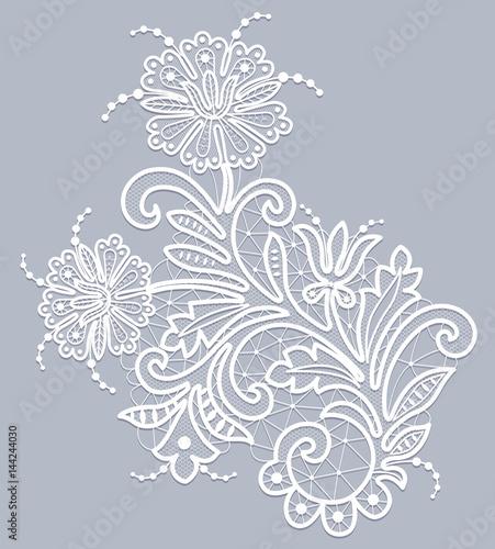 Floral lace pattern - 144244030