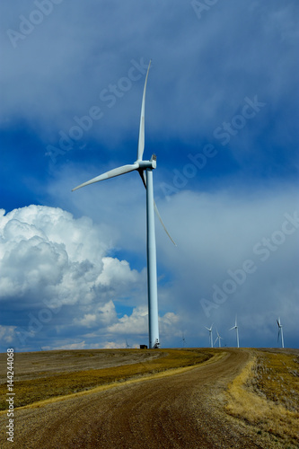 Wind turbines in North dakota. Poster