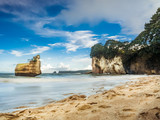 Floating Rock at Cathedral Cove Bay
