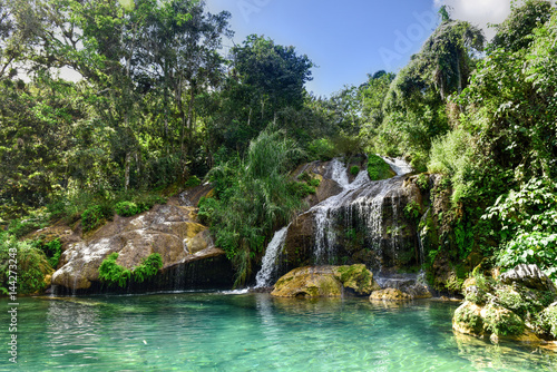El Nicho Waterfalls in Cuba Poster