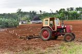 Tractor Plowing Field - Cuba