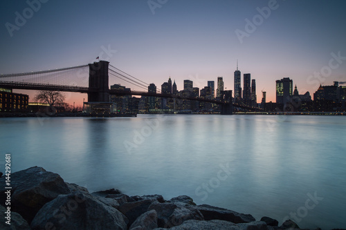 Papiers peints New York Manhattan sunset view from dumbo location