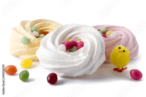 Easter meringue with jelly beans