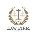 Law firm, attorney, lawyer service logo, template full vector - 144327608