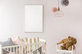 Fototapety Newborn bedroom with white crib