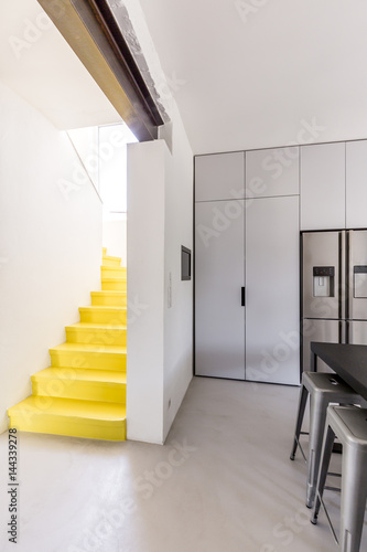 Modern yellow staircase
