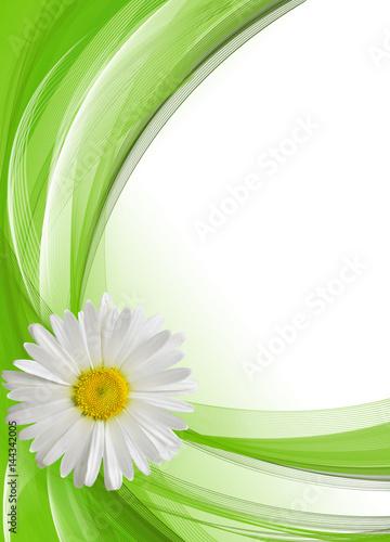 Easter card. Eggs, flowers, grass, 3d