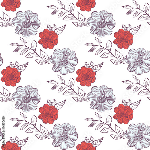 Seamless floral pattern - 144350629