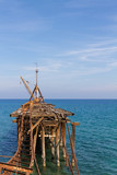 Derelict Pier at Xeros, Cyprus in Portrait