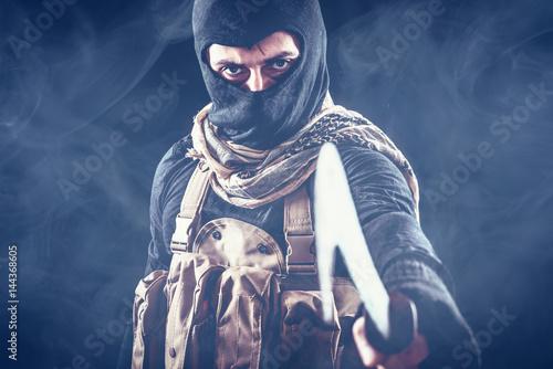 Terrorist criminal portrait Poster