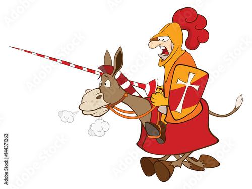 Deurstickers Babykamer Set of Cartoon Illustration.Cute Donkeys