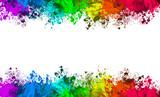 Multi-Color Paint Splatter Border/Background - 144372280
