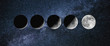 Moon phases. growing New moon