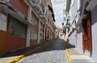 Old San Juan street, Puerto Rico One of the narrow, colorful cobblestone streets Old San Juan in Puerto Rico
