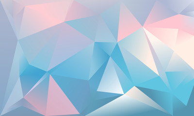 Abstract triangle background. Light blue, pink and white colour.