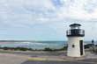Small lighthouse at the coast of Atlantic in Ogunquit,  Maine, USA