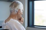 Fototapeta Thoughtful senior patient