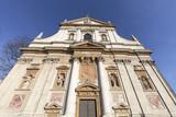 17th century Saints Peter and Paul Church, details of facade, Krakow, Poland