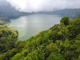 Luftbild, Zwillingsseen Danau Buyan und Danau Tamblingan, Bali