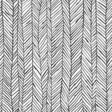 Abstract herringbone background. Seamless pattern. Wallpaper in black and white colors. Vector illustration can be used for fashion textile, wrapping paper, fabric prints. - 144446208
