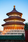 Sunset on the temple of heaven