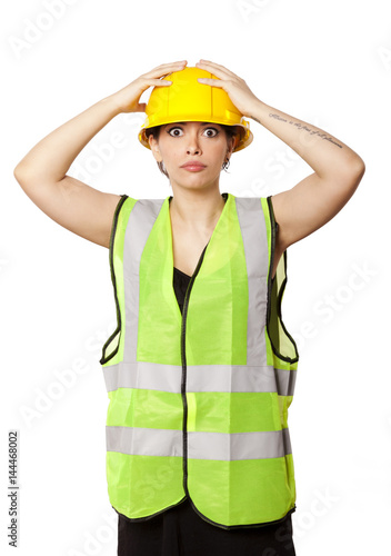 Poster Isolated Safety Gear Woman