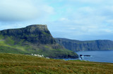 Group of Sheep Grazing on Neist Point in Scotland