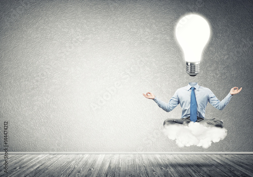 Businessman relaxing and waiting for inspiration Poster