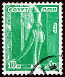 Postage stamp Egypt 1978 Statue of Horus