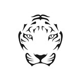 Tiger Head Abstract Image Symbol Illustration