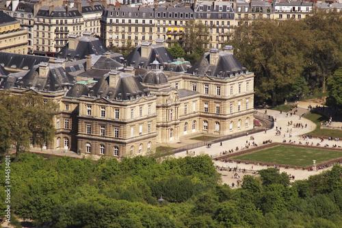 Paris, vu du ciel - Sénat Jardins du Luxembourg Poster