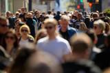 Crowd of people walking street in city - 144525055