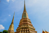 BANGKOK, THAILAND - MARCH 25, 2017 : BeautiFul Thai pagoda in Wat Pho, Bangkok, Thailand.