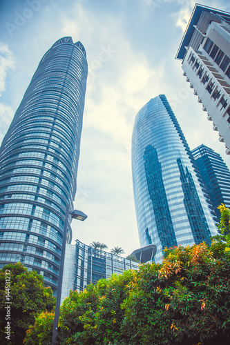 Poster Beautiful tall buildings in Kuala Lumpur. Malaysia
