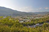Beautiful Italian landscape a bright Sunny day in Liguria