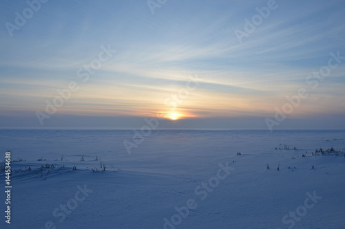 Poster Winter sunset