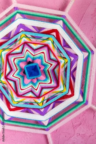 Mandala on pink background