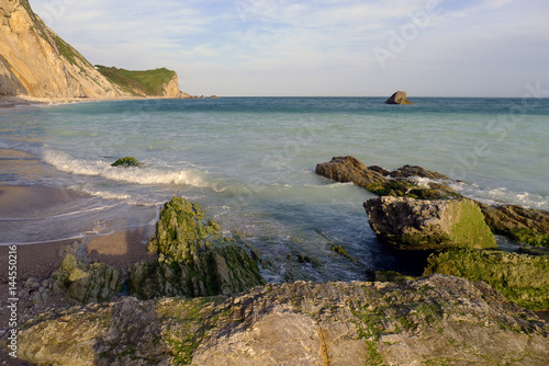 Poster Man of War Bay near Durdle Door, Dorset, England UK The Jurassic coast a UNESCO
