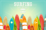 Surfing Retro Poster - 144551882