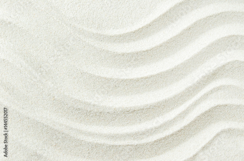 Fototapeta White sand texture background with wave pattern