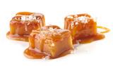 homemade salted caramel pieces - 144555659