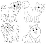 Doodle animal characters for dogs