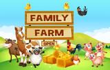 Farm animals on the farm - 144567879