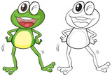 Animal outline for silly frog