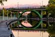 Rideau Canal Bridge Reflection Ottawa
