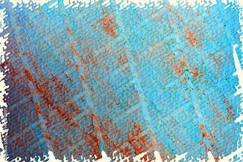 Grunge background of turquoise. Vintage texture turquoise colors with geometric shapes.