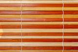 gros plan sur store bambou