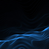 Abstract wireframe landscape - 144595685