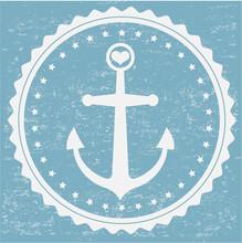 Grunge Stamp Anker Sticker